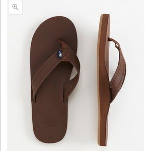 Vineyard Vines Shoes - Vineyard Vines Leather Flip Flops